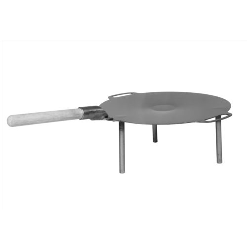 Firewok Firepan with wooden Handle. Great for pancakes and flat breads.
